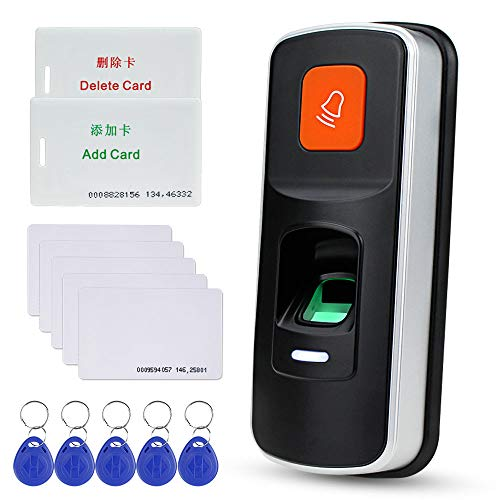 NN99 Standalone RFID Fingerprint Zutrittskontrollsystem Biometric 125KHz Reader Türöffner Controller Unterstützung SD-Karte Wiegand26 + 10 Stück Key Cards -