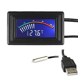 Termometro digitale keynice sensore con attacco usb per for Cucinare a 70 gradi