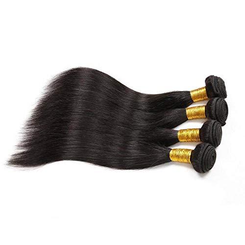 WIGM Echthaar Bündel Schuss brasilianisches reines schwarzes glattes Haar 8 Zoll_1B natürliche Farbe Lady Wig Brasilianische Menschliche Haare Perücken Für Frauen Echte Haare Schwarze Perü