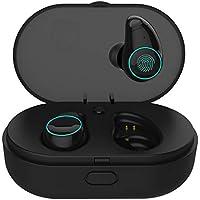Arbily Écouteur Bluetooth Oreillette sans Fil Sportives en qualité du Son HD Bluetooth 5.0 Boîte de Charge 800 mAh,Contrôle Tactile Écouteur Anti-Transpiration pour iPhone Android (Noir)