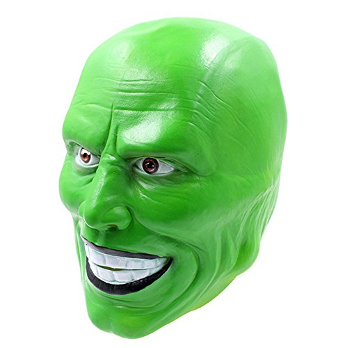 B-Creative Halloween Film Loki, grüne Latexmaske 'The Mask' Jim Carrey Kostüm Kostüm, Kostüm