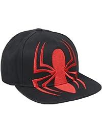 ARTESANIA CERDA Gorra Visera Plana Black Spiderman Negro, M (Tamaño del Fabricante:56