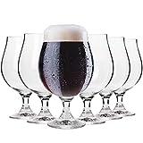 Krosno Dunkel Stout Biergläser 0,5 Liter | Set von 6 | 500 ML | Elite Kollektion | Perfekt für Zuhause, Restaurants und Partys | Spülmaschinenfest und Mikrowellengeeignet -