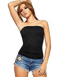images détaillées vente en ligne grande vente Amazon.fr : Bandeau - T-shirts, tops et chemisiers / Femme ...