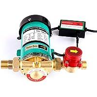 SHYLIYU Bombas de presión de agua automáticas bomba de refuerzo Bomba de agua caliente salida con interruptor de flujo de agua de latón para el hogar/ducha Lavadora 90W 20l / min
