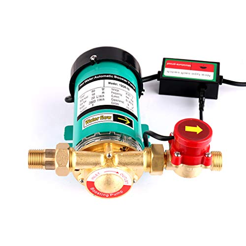 "SHYLIYU Booster Pump Automatic Water Pressure Pumps ¾"" Outlet Hot Water Pump with Brass Water Flow Switch for Home/Shower Washing Machine 90W 20l/min"