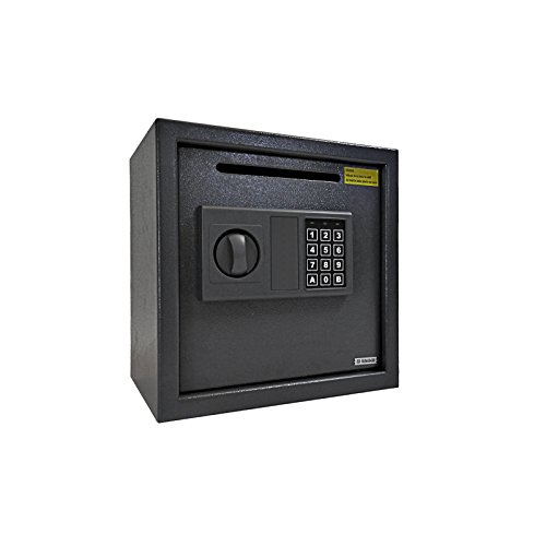 Dirty Pro ToolsTM Depósito Electrónico Digital seguro 11kg de acero seguridad en el hogar con ranura...