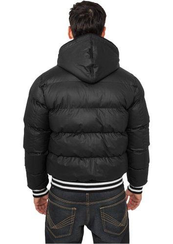 Urban Classics Herren Hooded College Bubble Jacket TB431, Farbe:schwarz;Größe:S (Bubble Herren Hooded Jacket)