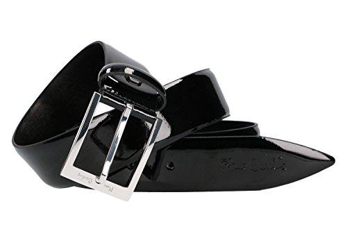 Cintura uomo pierre cardin nera cinta lunga 120 cm in pelle lucida smoking vr68