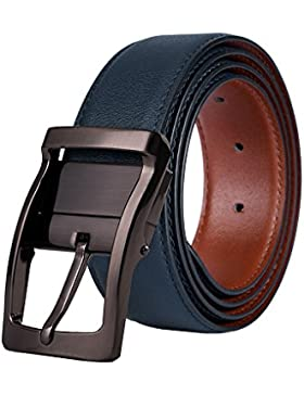 Cinturón Hombre de Cuero Bicolor
