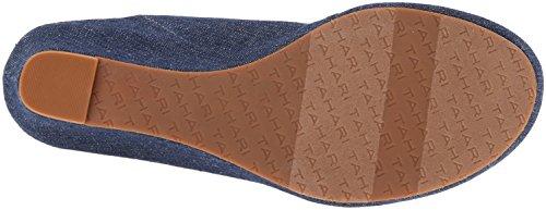 Tahari Mindy Stoff Keilabsätze Sandale Blue