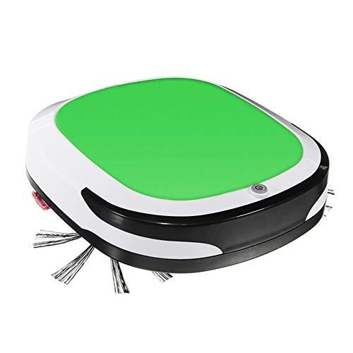 WSN Staubsauger Roboter,Intelligente Roboter wiederaufladbare 2000 PA-Vakuumtrockner trocken nass gewischt Wireless Auto Kehrmaschine Staub für die Haushaltsreinigung,Green