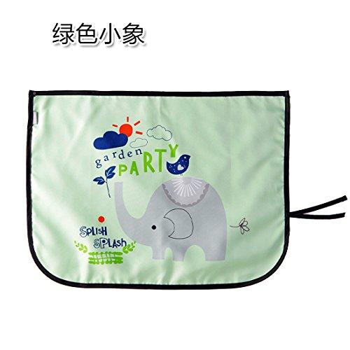 KXZDAS Coche Calor Solar Parasol el Parasol el Parasol de la Ventana Lateral de Coche Car Window Aislado Cortinas Elefante Verde