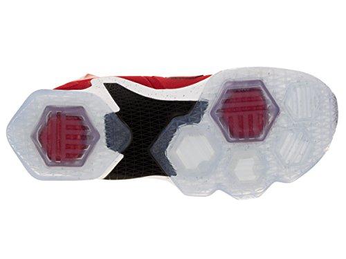 Nike Lebron Xiii, Chaussures de Sport-Basketball Homme, Taille Rouge / blanc / noir / orange (rouge université / blanc - noir -orange laser)