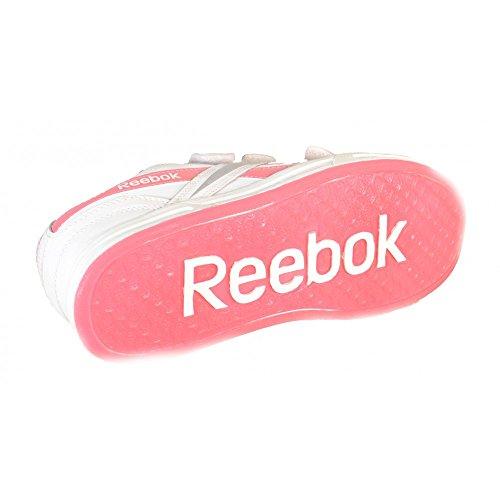 Reebok - Reebok Ace It Kc Scarpe Sportive Donna Bianche Pelle Tela Strappi J19461 Bianco