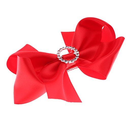D DOLITY Große Haar Bögen Clip Haarspange Haar Clips Bowknot - rot