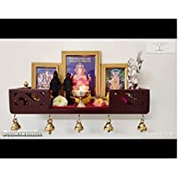 WOOD KARTINDIA Mdf Home Temple (45.7 x 15.2 x 8 cm, Brown)