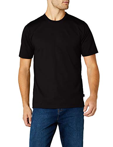 Trigema Herren T-Shirt aus Baumwolle 637202, Schwarz, 5XL