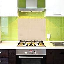 Pantalla antisalpicaduras de cristal/Panel de vidrio templado para cocina, 75 x 60 cm