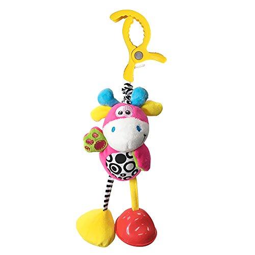 Hemore Baby Products 1 pcs Bébé Pull chocs à suspendre Hochet infantile Dessin animé Lit Poussette à suspendre jouet en peluche (Cute Deer)