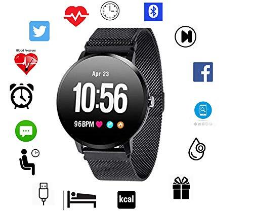 Torus Pro Fitness-Tracker, Smart-Watch, Herzfrequenz-Monitor, Schrittzähler, Kalorienzähler, Aktivitätstracker, Fitness-Armbanduhr, Herren-Armbanduhr, Gewichtsverlust, fit und fit bleiben.