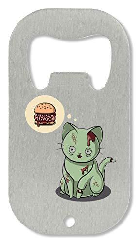 OpenWorld Creepy Cool Zombie Cat Brains Food Flaschenöffner
