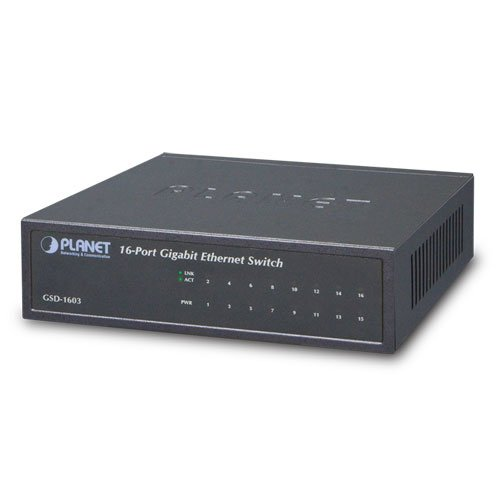 Planet Gigabit Ethernet Switch (External Power) 16-Port 10/100/1000Mbps Metal Case