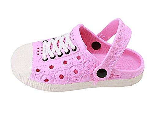 Lalang Sabots Mixte Enfant Sabot de Plage Chaussures Sandales Enfant Rose