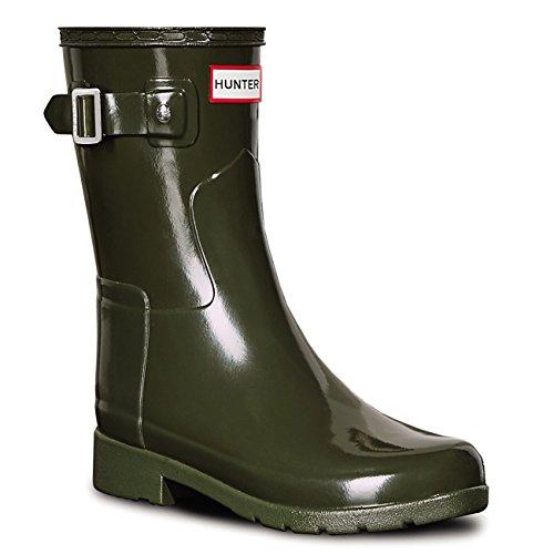 HUNTER Damen Original Refined Short Gloss Winter Schnee Regen Stiefel EU 36-43