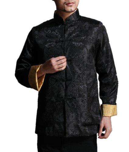 100% Seide Blazer (Reversibel Reine Seide Herren Blazer Handgemachte Orientalische Männermode #104)
