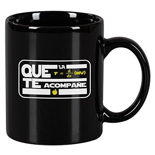 Taza mug desayuno de cerámica negra 32 cl. Modelo Fuerza