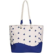 EcoRight Beach Bag Large Women Tote Bag with Waterproof Lining & Extra Pockets
