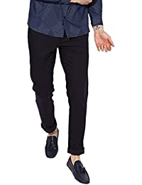 Halogen Copperstone Fashionable Lycra Black Skinny Fit Chinos For Men's….