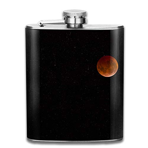 Sdltkhy Lunar Eclipse with Stars Pocket Hip Flask - 7oz Flasks