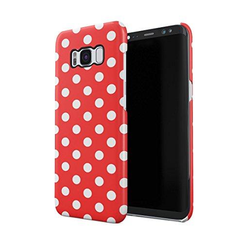 Crimson Red Polka Dots Pattern Dünne Rückschale aus Hartplastik für Samsung Galaxy S8 Plus Handy Hülle Schutzhülle Slim Fit Case cover (Dot Cover Red)