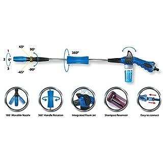 Pingi Hochdruckreiniger Aquablaster Pro Dampfstrahler 3 Impulswelleneinstellungen Terrassenreiniger Schnellverbinder für Gartenschlauch