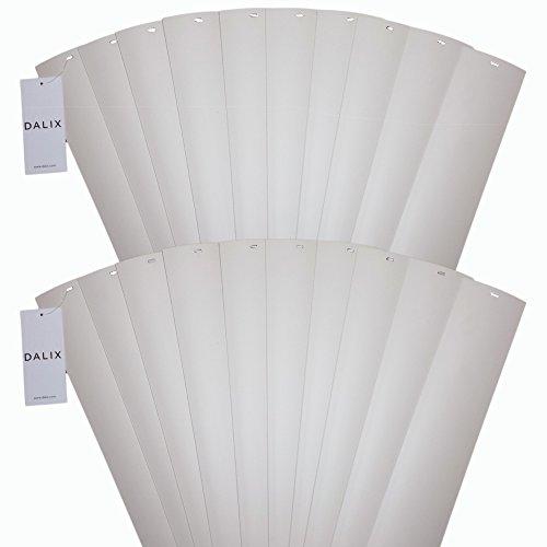 dalix PVC Vertikale Ersatz-Lamellen Gebogene Glatte Ivory Elfenbein Weiß Creme (52,5Länge), Vinyl, beige, 52 1/2 (Vertikale Kurzen Jalousien)