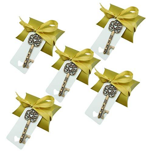 Antike Bronze Schlüsselform Flaschenöffner Hochzeit Gefälligkeiten Baby Shower Geschenke Birthday Party Favors Souvenir Geschenk für Gäste (50 stücke)