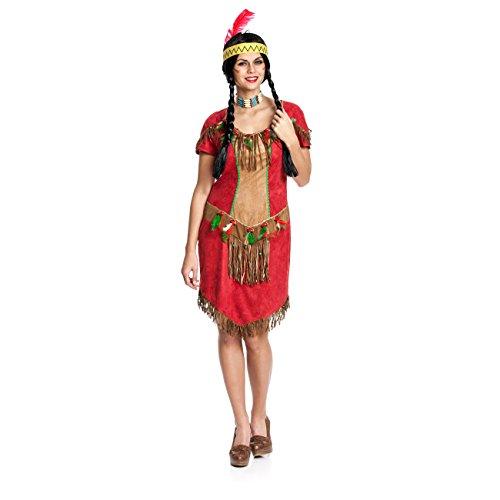 Kostümplanet® Indianer-Kostüm Damen sexy Indianerin-Kostüm Frauen Größe 32-34 (Sexy Indianer-kostüme Für Frauen)