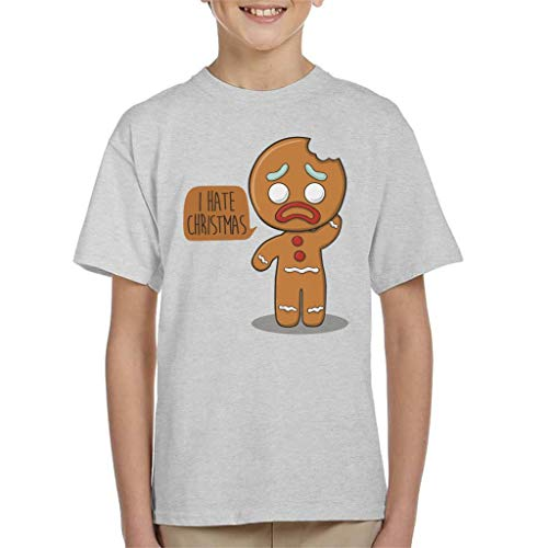 Cloud City 7 I Hate Christmas Gingerbread Man Kid's T-Shirt 3