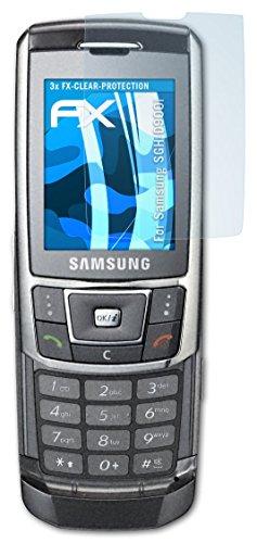 Samsung SGH-D900i Schutzfolie - 3 x atFoliX FX-Clear kristallklare Folie Displayschutzfolie