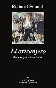 El Extranjero par  Richard Sennett