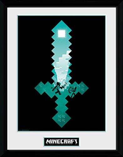 Minecraft – Diamant Schwert als gerahmter Druck