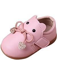 Zapatos De Bebé, K-youth® Bowknot Primeros zapatos para caminar La princesa del bebé Sola suave calza las zapatillas de deporte del niño Zapatos ocasionales