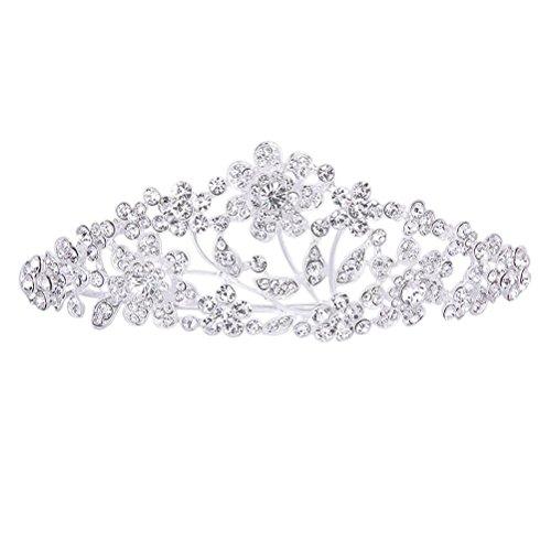 Pixnor Mariage de Barrettes strass floral nuptiale hairband cheveux pince à cheveux