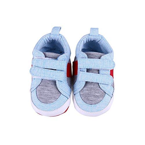 Leinwand-schuhe Jungen Slip Auf (Doubleer Baby Auf Leinwand ziehen Beiläufig Schuhe Kleinkind Baby Prewalker zuerst Gehen Schuhe)