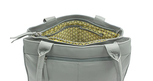 Pelle mala spalla BEAU Collection Borsa in pelle grigia 7109_89 Grey