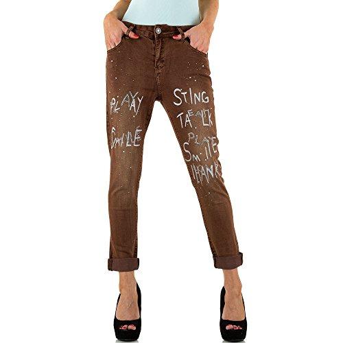 Mozzaar Used Boyfriend Jeans Für Damen bei Ital-Design Braun