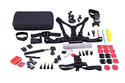 RK kit di accessori 53 in 1 per fotocamere Sportive SJCAM sj8, Series 7 6 5 4, GoPro Hero Session 6 5 4 3, Fotocamere apeman, telecamere YI.