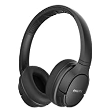 Philips On Ear Headphones SH402BK/00 Wireless Sports Headphones (Bluetooth, IPX4, 40 mm Driver, 20 Hours of Play Time, Cooling Ear Cups, Echo Cancellation, Foldable) Black
